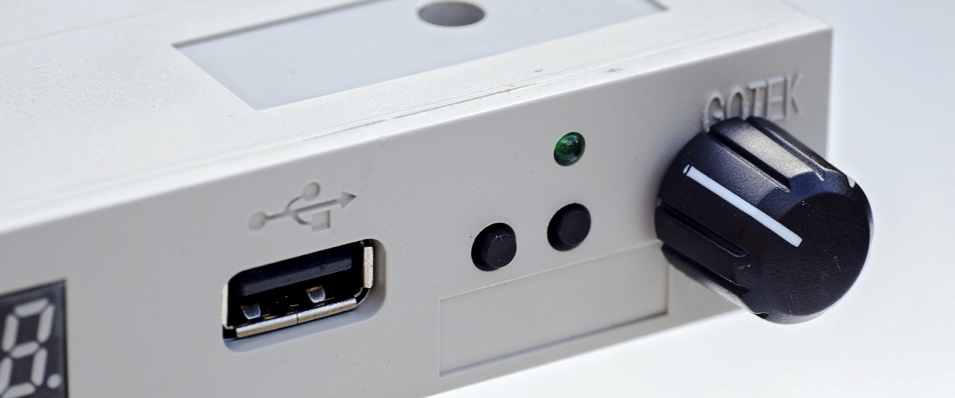 Slider 02 : Gray Gotek Floppy Drive with Rotary Encoder