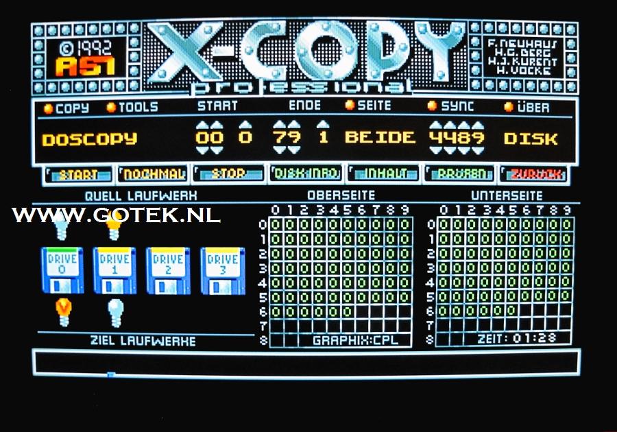 ADF Image  naar Floppydisk kopiëren met X-copy