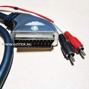 Scart connector Close up Premium Scartcable