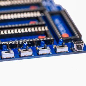 Close-Up van de schakelaars op een Obesicart voor de C64