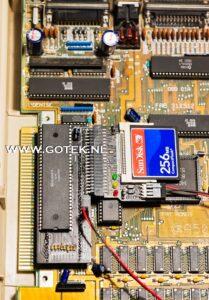 Bovenaanzicht Amiga 500 Interne IDE Interface (horizontaal model)