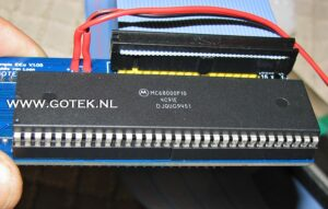 Close-up Amiga 500 Interne IDE Interface (staand model)