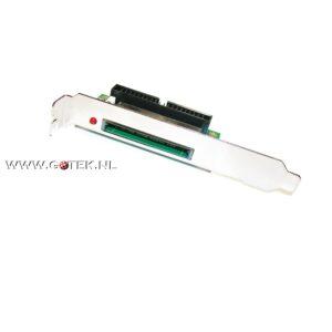 IDE-2-CF Adapter (40 Pin, Male, Verticaal) Achter aanzicht