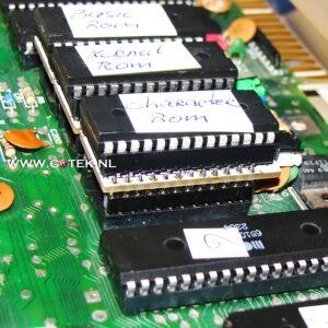 Close up van drie 2364 Eprom adapter op een rij