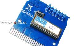 MegaLoadOn16 MSX Cartridge boven aanzicht