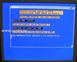 Bootscherm van de Amiga 500 Extern IDE Interface