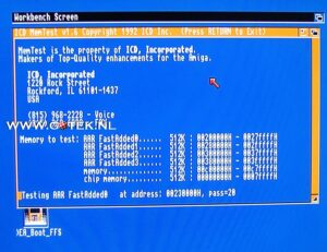 Memory test of a Amiga 500 External 2MB FastRam Memory Expansion