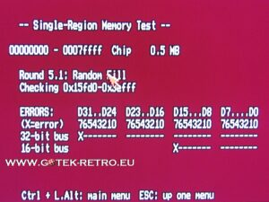 Testing the Amiga 500 Chip Mem for Memory Issues